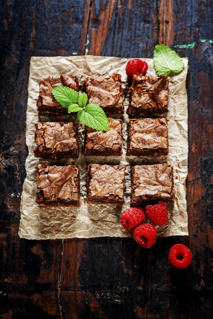 St. Patrick's Day Brownie, mint and chocolate