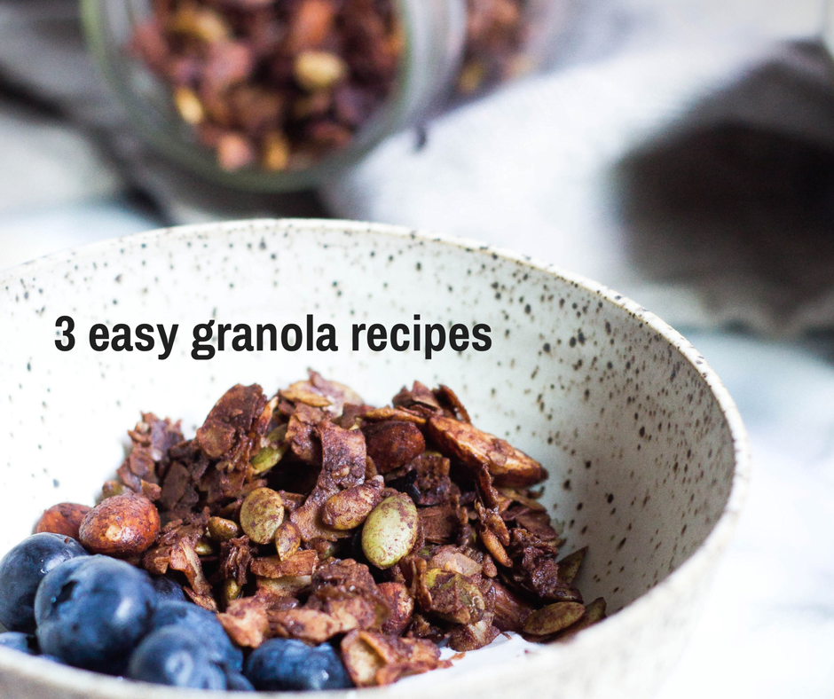 3 easy granola recipes