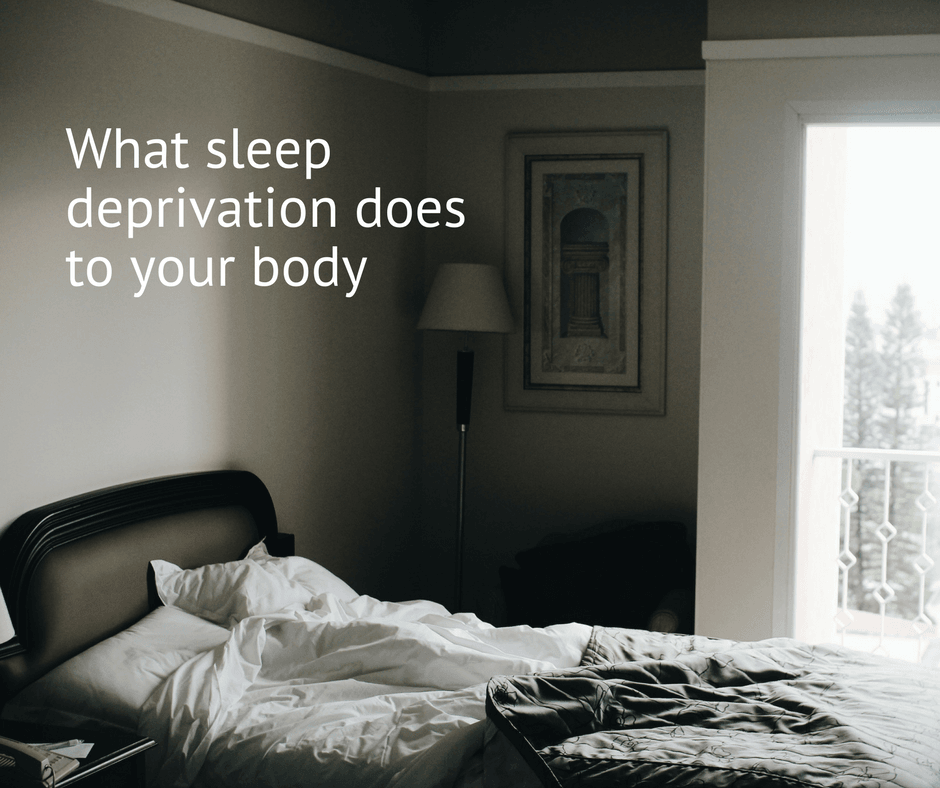 What sleep deprivation does to your body