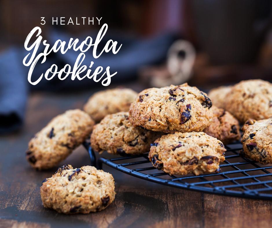 3 Healthy Granola Cookies