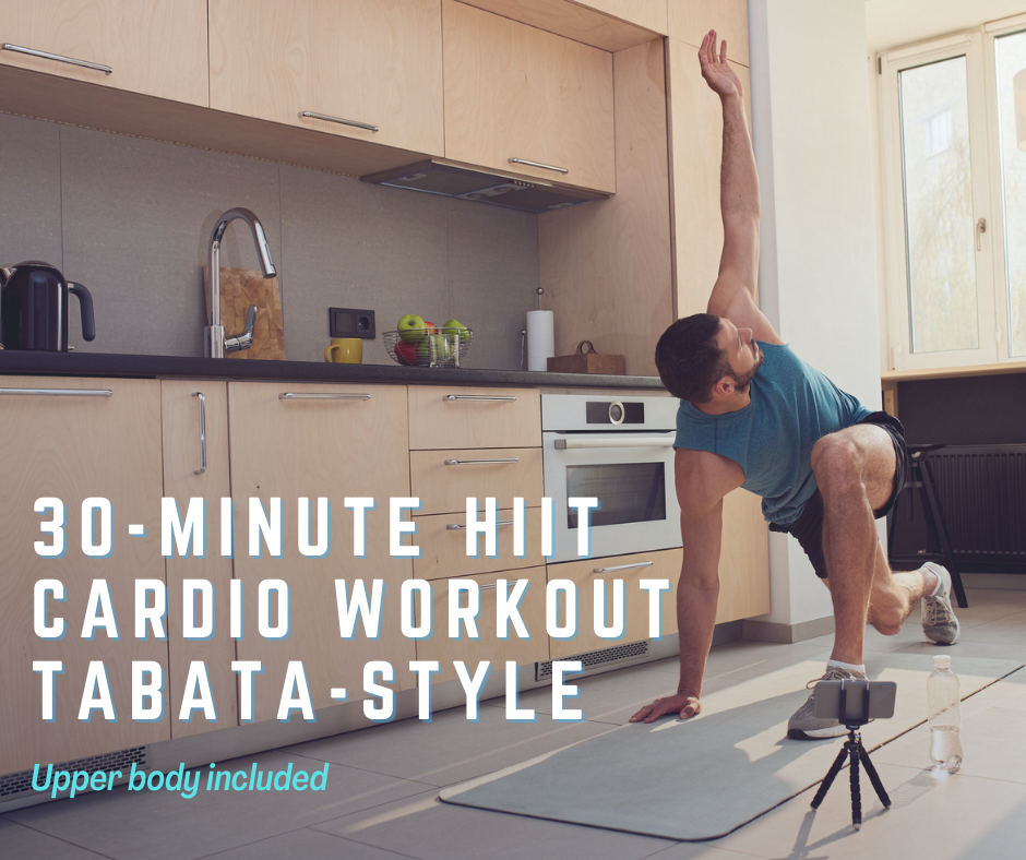 30-minute HIIT cardio workout Tabata-style   Upper body included